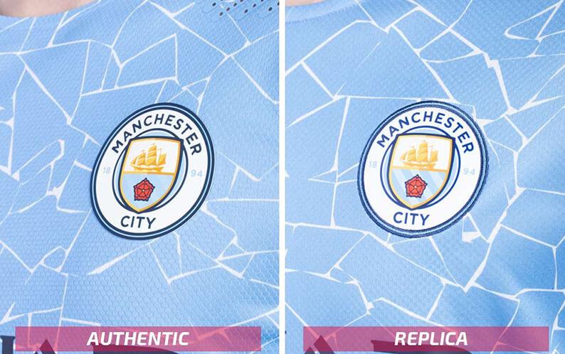 Replik vs authentisches Fußballtrikot Manchester City